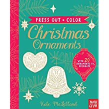 Press Out and Color: Christmas Ornaments
