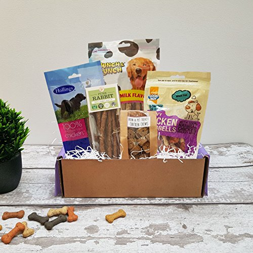 Poochie Presents Dog Treat Box Present Gift Hamper - The Barking Banquet