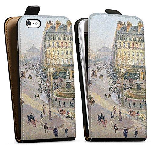 Apple iPhone X Silikon Hülle Case Schutzhülle Camille Pissarro The Avenue de L'Opera Kunst Downflip Tasche schwarz