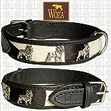 Woza Premium HUNDEHALSBAND FRANZÖSISCHE Bulldogge 3,3/52CM Zebra Vollleder Rindleder Nappa Collar