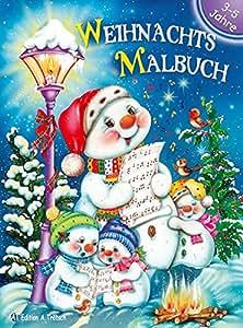 Weihnachts-Malbuch 3-5 Jahre
