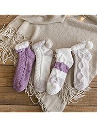 Suelo antideslizante calcetines adulto coral de felpa de lana gruesa de terciopelo más cálido invierno toalla calcetines…