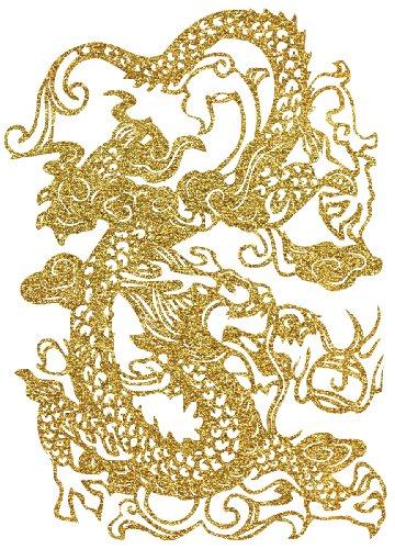 Dragon Topography Sparkly Glitter Iron-Ons 1/Pkg TOPGLITR-93237
