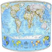 Premier de arroz–techo National Geographic Mapa del Mundo de carga de arroz, 30,5 cm