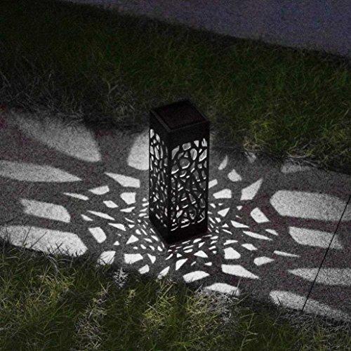 Solarlampen für außen, gaddrt LED Pfadbeleuchtung Landschaftslichter Rasen Licht Garten Dekoration Licht (A)