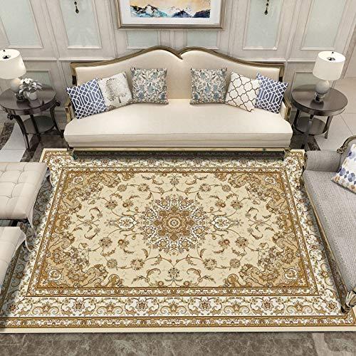GXLO Oriental y clásico en Estilo Persa Tradicional con tapete Floral Telar de Mano 100% Materiales reciclados, B,120 * 160CM