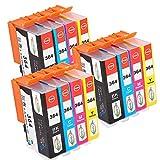 win-tinten 12 HP364 Kompatible Patrone als Ersatz für HP 3070A 3520 3522 Officejet 4620 4622 Photosmart 5510 5515 6510 7510 B010A B109A B110A B210A