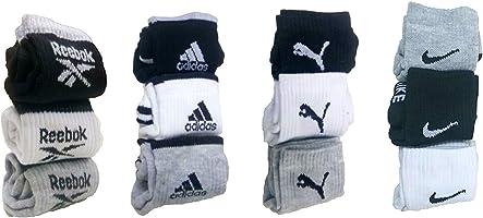 DIGITAL SHOPEE Men's Cotton Ankle Length Socks (Multicolour, Pack of 12)