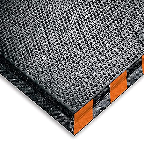 Andersen 476030035 Interior Floor Mat with Striped Border, Happy Feet, Nitrile, Rubber Grip Surface Anti-Fatigue, 5' Length x 3' Width, 1/2