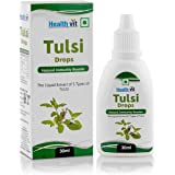Healthvit Tulsi Drops- Concentrated Extract of 5 Rare Tulsi for Natural Immunity Boosting & Cough and Cold Relief 30ml