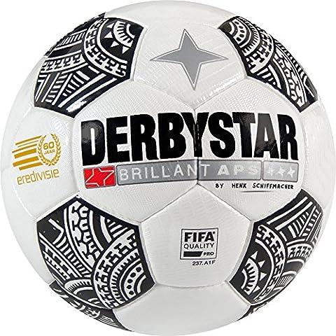 Derbystar Brillant APS eredivisie de football, 5, Match de Football Taille 5(420g) 5 blanc/noir