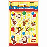 Curious George Stickers 4 Sheets