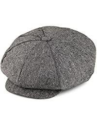 Jaxon & James Marl Tweed Big Apple Cap - Black