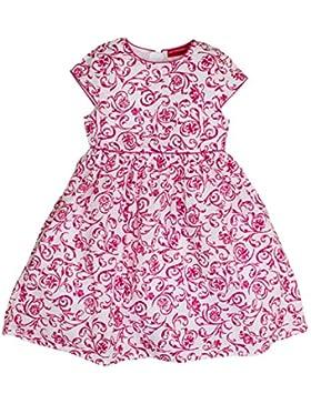 SALT AND PEPPER Mädchen Kleid Dress mit Roten Blumenranken