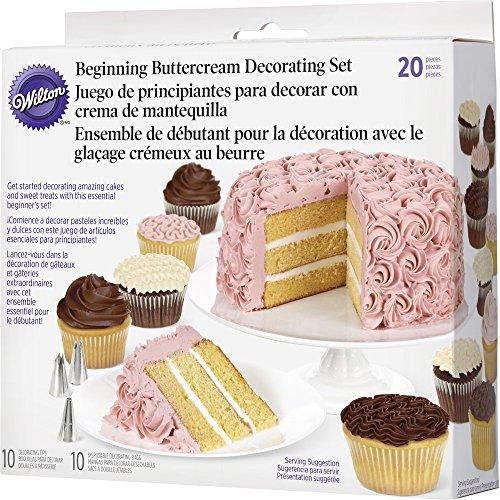Wilton 2104-1367 - Set decoración básica crema de mantequilla, 20 piezas width=