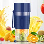 Roebii Portable Mini Juice Blender Cup, Cordless Personal Juicer, Small Smoothies Mini Mixer, USB Rechargeable, Efficient...