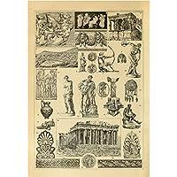 meishe art vintage poster print kunst antike griechische und die alten rom ber hmte skulptur