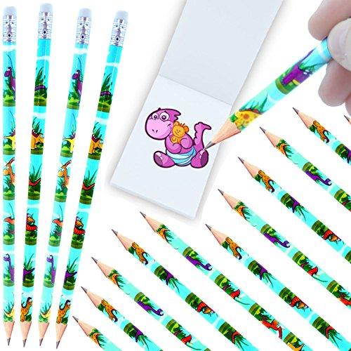 - 12 x Dino - Party - Bleistifte mit Radierer┃ NEU ┃ Kindergeburtstag ┃ Mitgebsel ┃ Dino - Party ┃ 12 Stück (Halloween-brief-schriften)