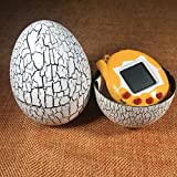 BIMAGE Pet Electronic Game Console, Crack Egg Digital Pet Tumbler Toys Virtual Electronic Game Console For Keychain (White Egg)