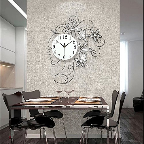 GJX@ Ragazze creativo lusso diamond grande orologio/casa decori murali orologio da parete