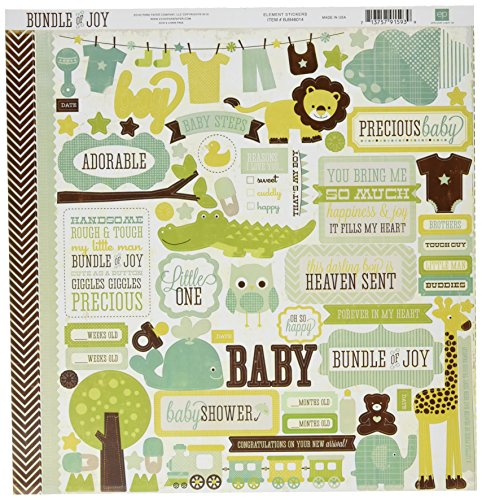 Echo Park Paper Company Wonneproppen-Karton-Aufkleber, Junge, 30,5 x 30,5 cm -Element (Echo Paper-bundle Park Of Joy-boy)