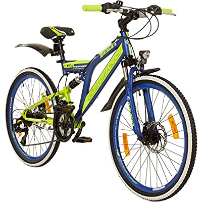 Galano 24 Zoll MTB Fully Adrenalin DS Mountainbike STVZO Jugendfahrrad