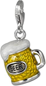 SilberDream exclusive Charms - Charm verre à bière en argent pour charms colliers et bracelets - Argent 925 Sterling - FC860Y