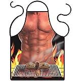 E-db Sexy Küchen-Schürze BBQ Lustige ursprüngliche Kochschürze Bindungs-Mann für Mann-Freund-Geschenk (BBQ)