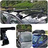 Heavy Duty Black Steel Storage & Transport Car Roof Rack Bars to fit Ford Focus Ii Inc Estate With Mounting Points (2004-2010)