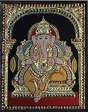 Lord Ganesha - Mahaganapathy (Mixed Media by Vidya Sridharan)
