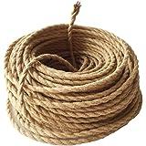 GreenSun Textielkabel, 2-aderig, textielmantel, stroomkabel, 2 x 0,75 mm², 10 m, elektrische kabel, stoffen kabel, linnen, dr
