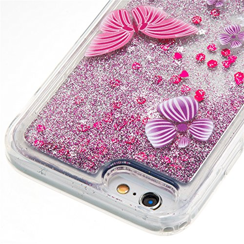 Nutbro iPhone 6S TPU Liquid Case,iPhone 6 Flowing Quicksand Liquid Floating Luxury Bling Glitter Sparkle Diamond Soft Cover Case for iPhone 6/6S YB-iPhone-6S-281