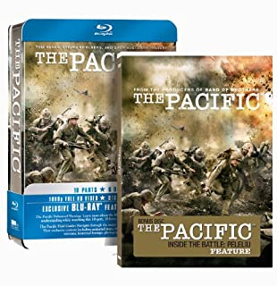 The Pacific - Complete HBO Series - Amazon Exclusive Tin Box Edition (Includes: Inside The Battle Of Peleliu) [Blu-ray] (B003CJSWU6) | Amazon price tracker / tracking, Amazon price history charts, Amazon price watches, Amazon price drop alerts