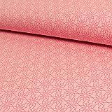 Jersey Stoff einfache Blume rosa - Preis gilt für 0,5