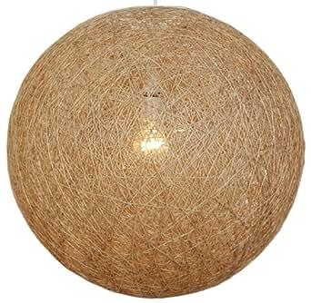 Ficelle naturelle Abat-jour à pendentif Boule 40 cm
