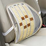 Neilyn 2 STÜCKE Automobil Bambus Scheibe Taille Stützkissen Sommer Auto Bambus Massage Rückenlehne Autositz Unterstützung Bürostuhl Rückenlehne