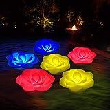 Lumières Piscine Flottantes,LED Spa Lumières de Bain Lumières Fleur,Éclairage IP68 Étanche Lumières Jacuzzi Veilleuse pour Wh