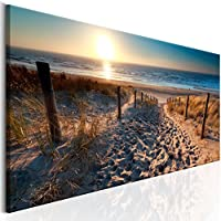 murando - Cuadro en Lienzo 135x45 cm Formato - Impresion en calidad fotografica TOP - lienzo tejido-no tejido - Cuadro Playa Mar Paisaje c-B-0134-b-a
