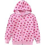 EULLA Sudadera con capucha para niña, con cremallera, 1-7 años, 92-122