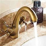 MMYNL Antiker Claw Copper Double Double Doppel Test Mixer Wasserhahn Bad Armatur Waschtischmischer