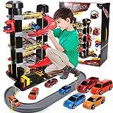 Parcheggio per auto, Garage per parcheggi, Torre di parcheggio per conducenti, Parcheggio con 5 piani, Giocattoli per garage, Giocattolo per bimbi su rotaia, Giocattolo per garage con piattaforma elev