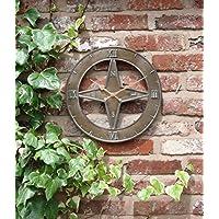 Outdoor Garten Wanduhr 38,1cm Nautisches Home Time Piece ds1099