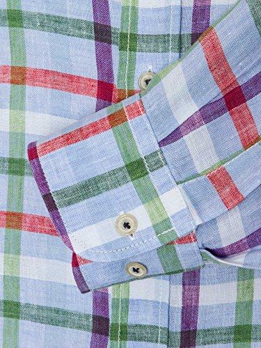 CASAMODA Herren Businesshemd 441925300 Casual Fit bügelleicht Grün
