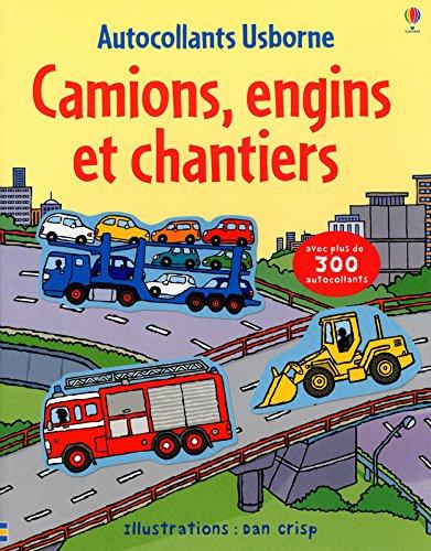 Camions, engins et chantiers - Autocollants Usborne par Sam Taplin
