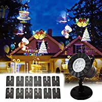 Boocy Christmas Party LED Light Projector Festive projection lamp 12 Switchable Slides Patterns & Thermal Module (UK)