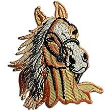 Salmón en color de caballos Pony Animales Zoo Patch Kids Baby '7 x 8.7 cm'- Parche Parches Termoadhesivos Parche Bordado Parches Bordados Parches Para La Ropa Parches La Ropa Termoadhesivo Apliques Iron on Patch Iron-On Apliques