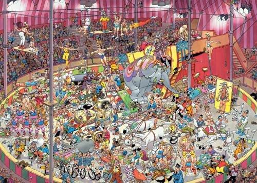 Imagen principal de Jumbo - Puzzle The Circus, 1000 piezas (01470)