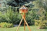 Vogelhaus, Vogelhäuschen mit Ständer (schwarz)