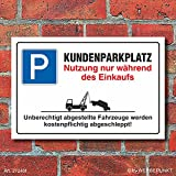 Schild Parkplatzschild Parkverbot Parken Kundenparkplatz Einkauf Alu-Verbund 600 x 400 mm