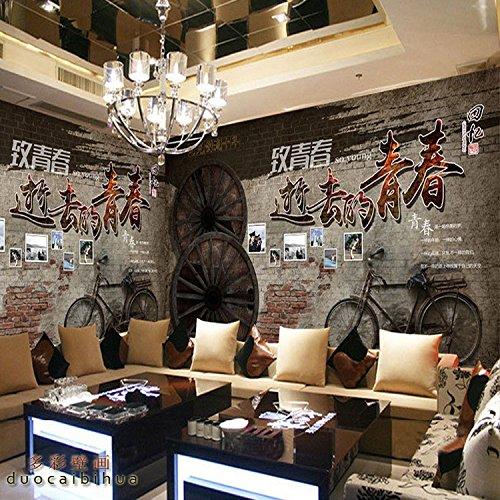 Los niños pegatinas de pared3D ciudad nostálgicos Kids pegatinas de pared Pared Hotel Paper-Themed Music Bar té Ktv City Kids pegatinas de pared, [] Wire Chuan trapo/Tiempo limitado